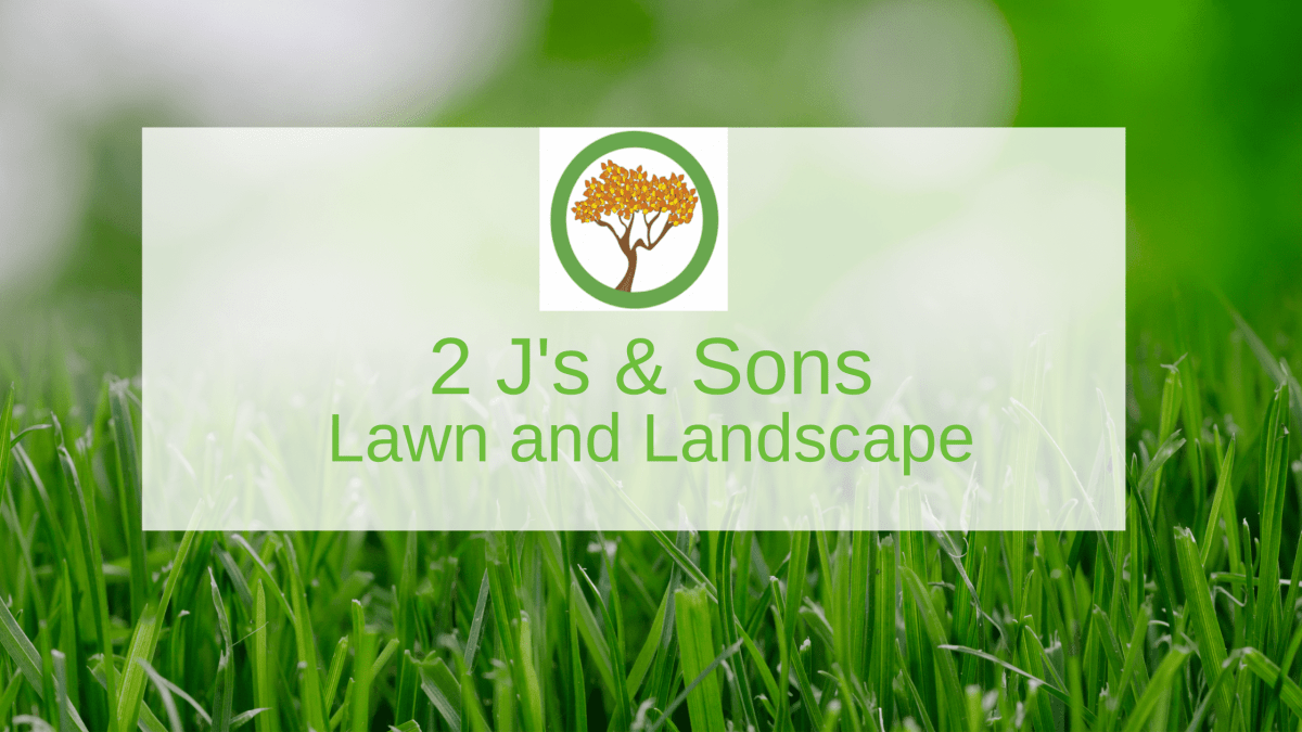 2 J's & Sons Lawn and Landscape Logo on grass