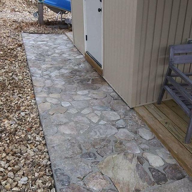Native Stone Dock Walkway