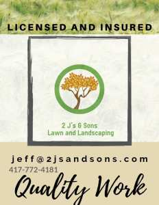 Licensed and Insured lawn care and landscape