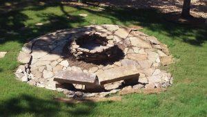 native stone fire pit