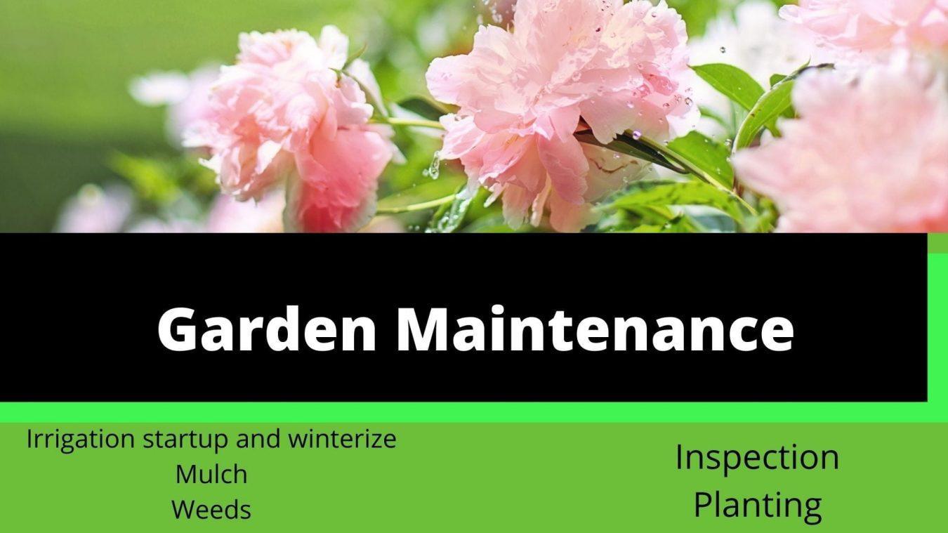 garden maintenance seasonal package