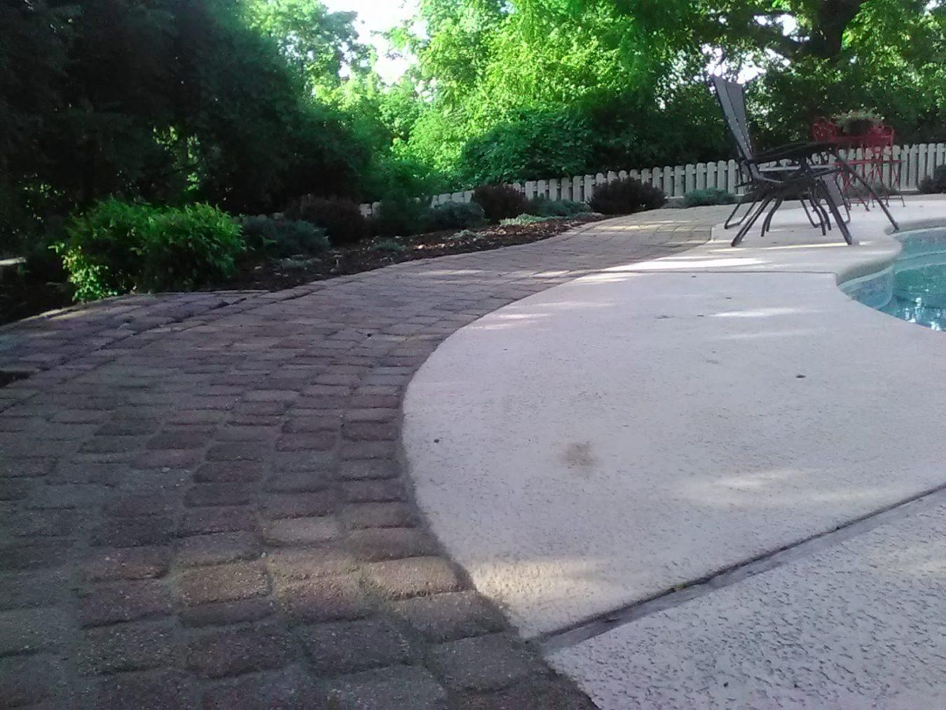 paver pool walkway