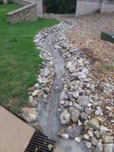 lawn drainage, landscape service