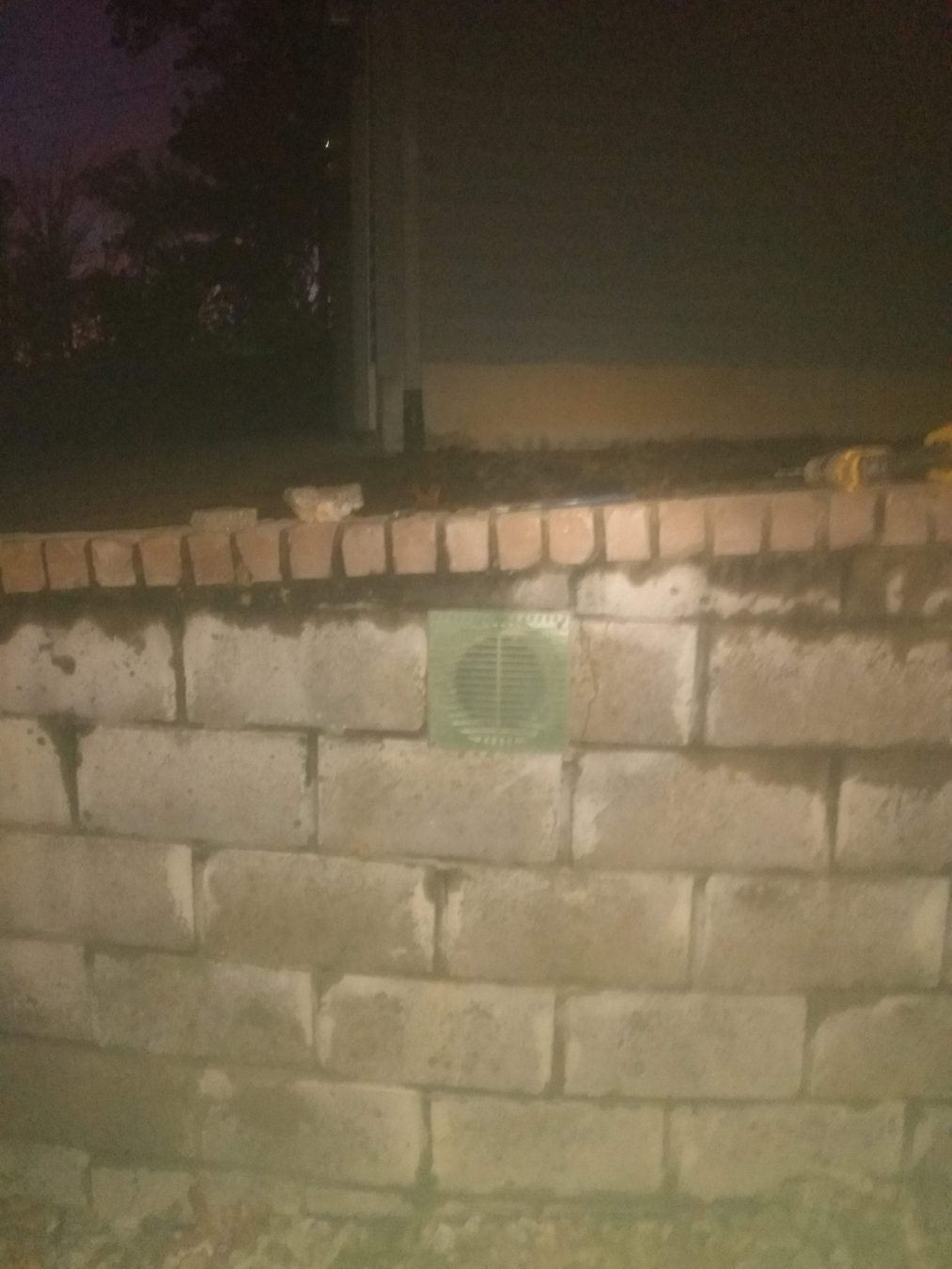 drain in wall