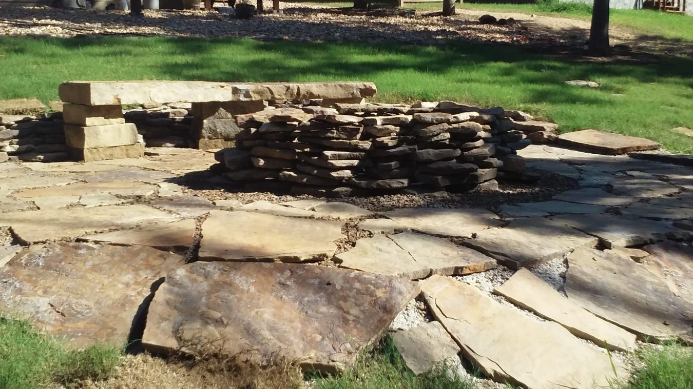 hardscape fire pit, hardscape northwest Arkansas