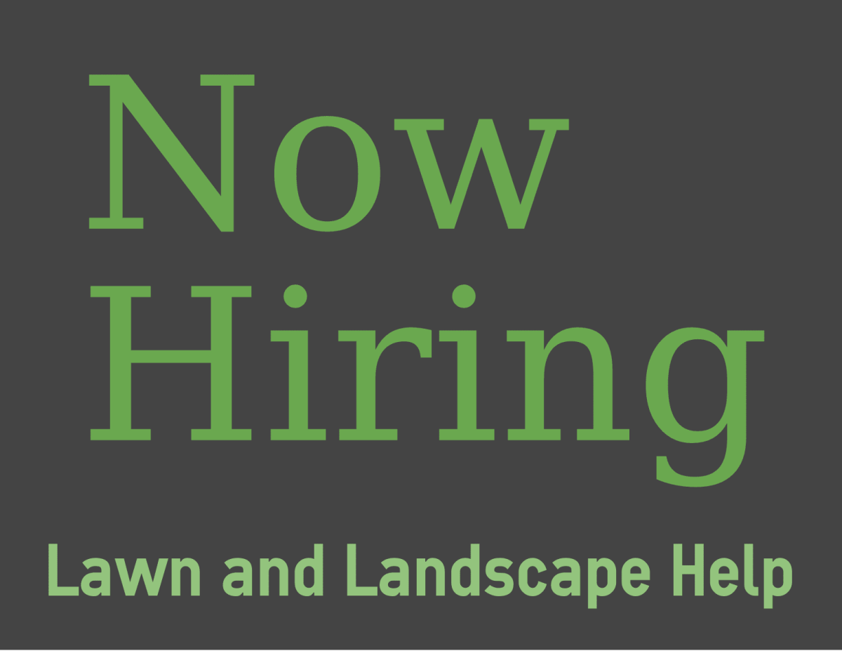 help needed landscape labor